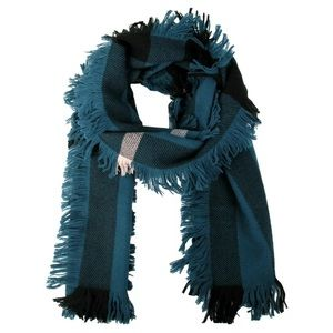 Burberry Wool Half Mega Fashion Fringe Scarf check